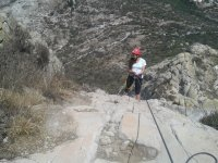Rappel in the mountains