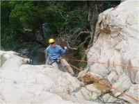 Rappelling in Agua Zarca