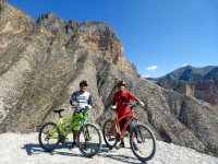 Mountain bike with beautiful landscapes