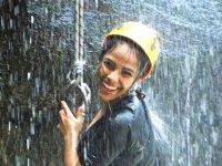 Rappel in the waterfalls of Tixiñu