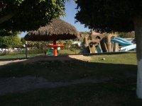 Palapas and children's area