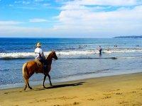 A caballo frente al mar