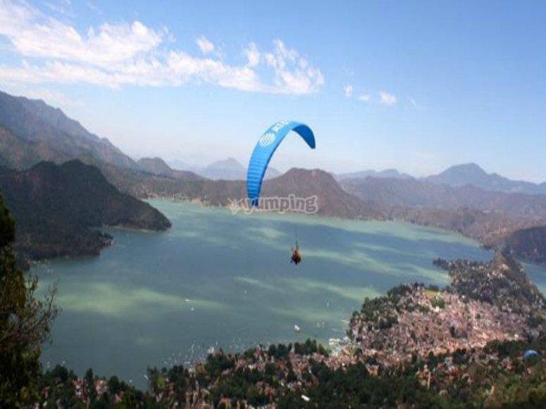 skydiving landscape