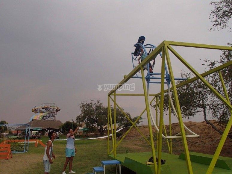 Instalaciones del parque de diversiones