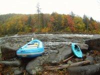 kayaks and rafting