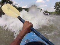 kayaks in rapids