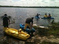 Kayaks in Yucatan