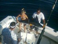 Marlin negro pescado