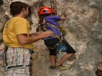 The kids also climb