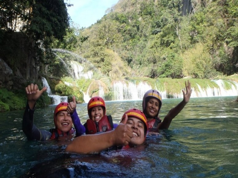 Jump to waterfalls
