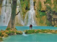 As a couple in the waterfalls of Huasteca