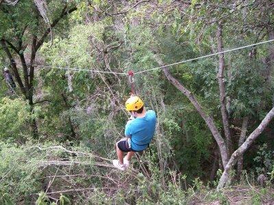 Zipline jump in the Barranca de Aguacatitla