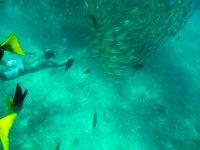 Disfrutando de snorkel en Los Cabos