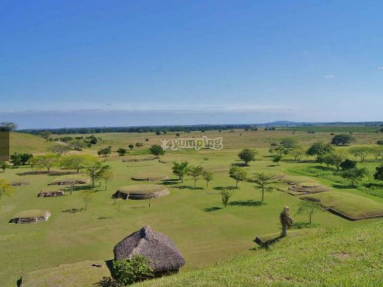 Vista de la zona arqueologica Tamtoc