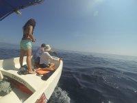 Practicando pesca