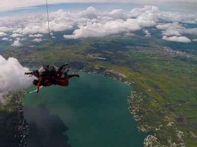 Parachuting jump from 13,000 feet Puente Ixtla