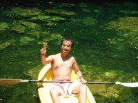 Canoe in cenote