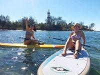 Sentadas en paddle boarding