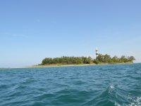 Vista desde el paddle surf a Isla Sacrificios