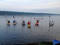 Team kayaking