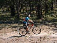 Training mountain biking up the mountain