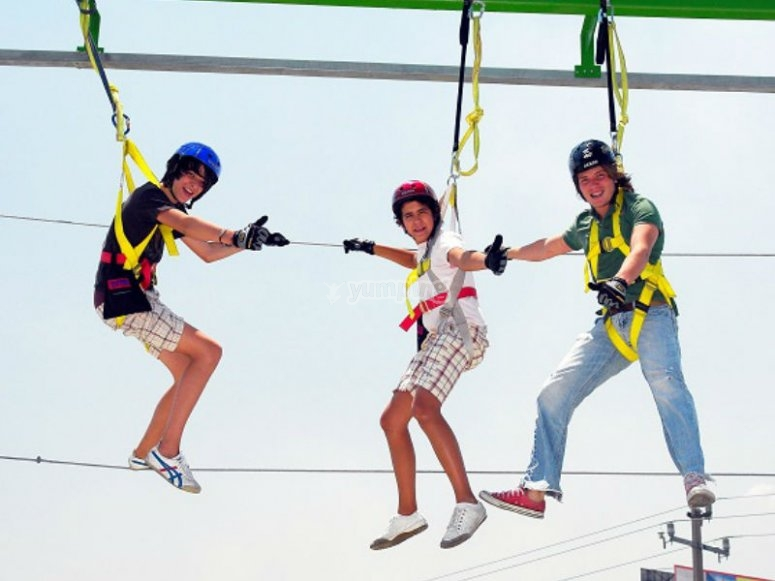 Feel the adrenaline rush on the zip lines