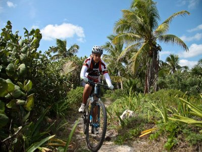 Cycling route at Playa del Carmen for residents