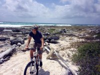 Pedaleando en Punta Venado