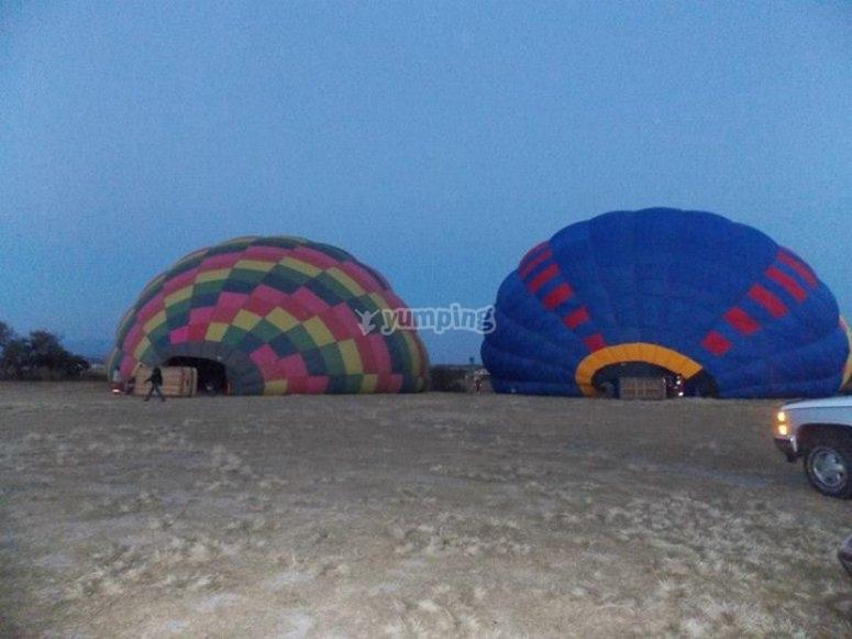 Inflado de globos aerostáticos