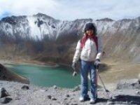 Trekking snowy of Toluca