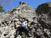Climbing natural rock