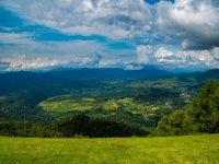 Mountain biking route view