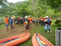 Kayaks in the jungle