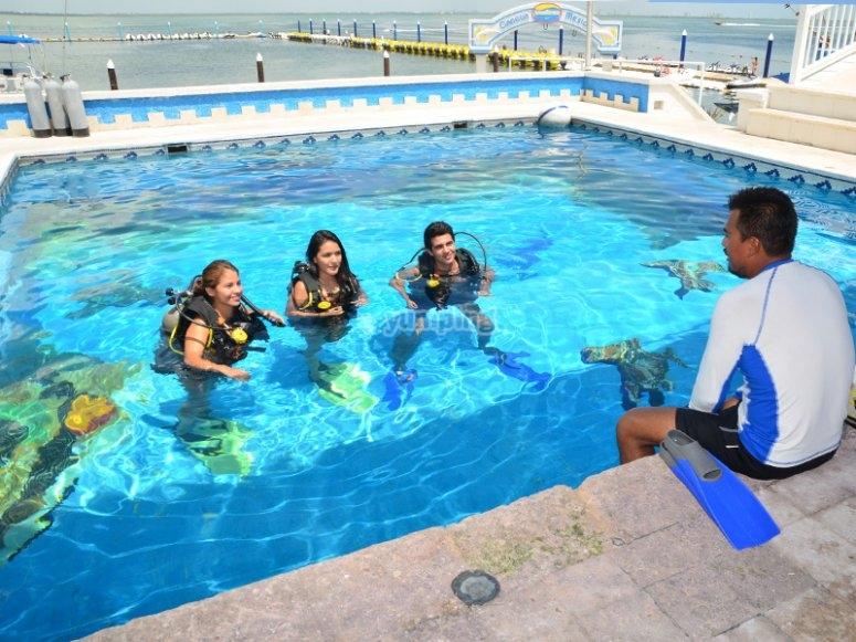 Buceo para principiantes en Cancún