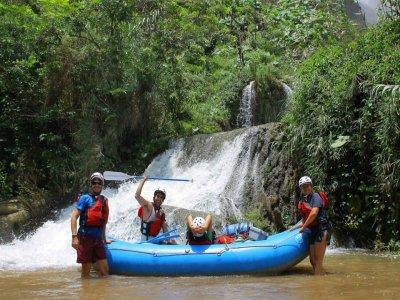 Rafting in Lacanja river in Lacandona jungle
