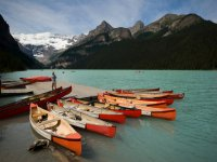 Canoes to start the route