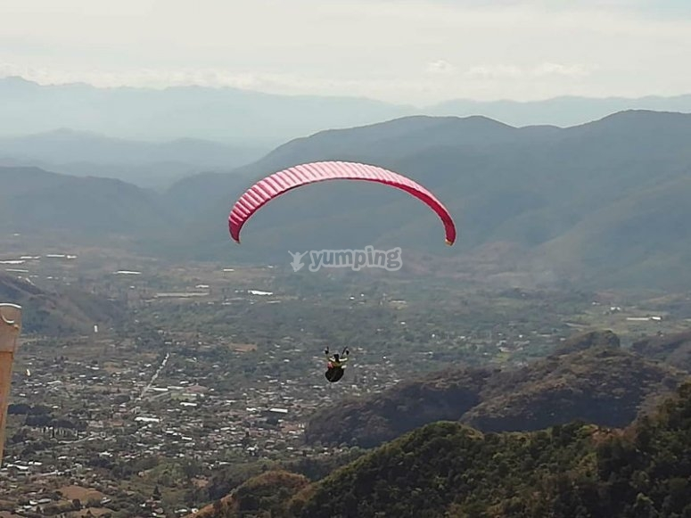 Fly through the sky of Malinalco