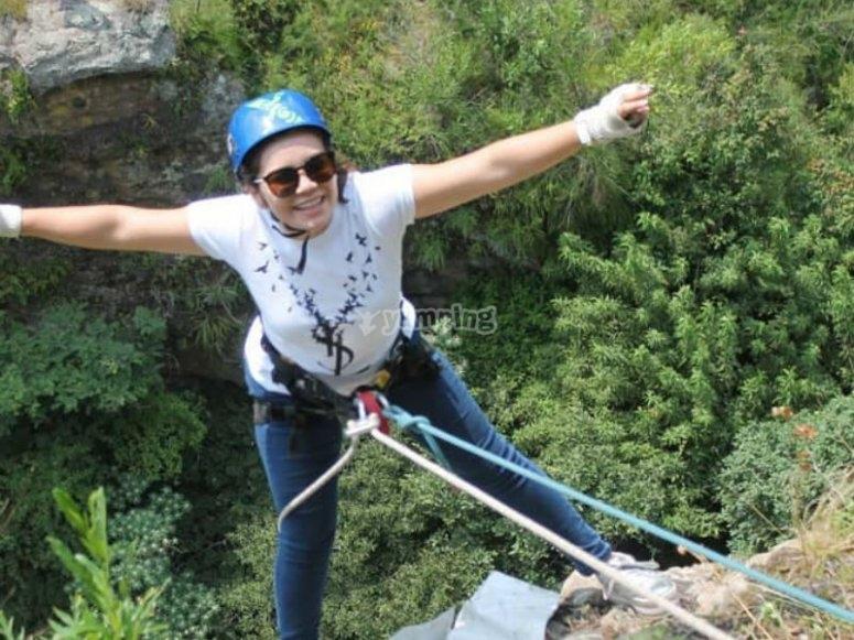 Rappel adventure in Malinalco