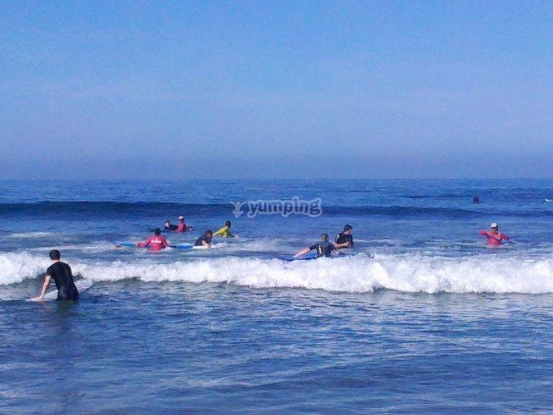 Clases de surf en Playa