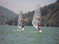 sailing on the lake
