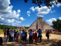 Chichen Itza and the sacred temple.