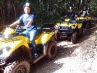 Tour through the jungle in ATV
