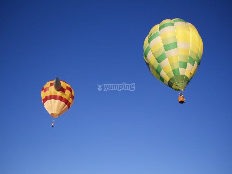 vuelo en globo en zona arqueológica