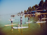 Practicing SUP with the family