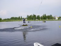 Wakeboarding in the lagoon
