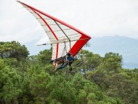 Spectacular landscape from the hang gliding