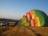 Balloon on the ground