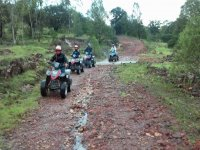 On wet terrain
