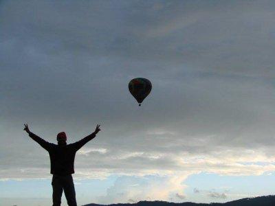 Balloon flight birthday pack in Huasca