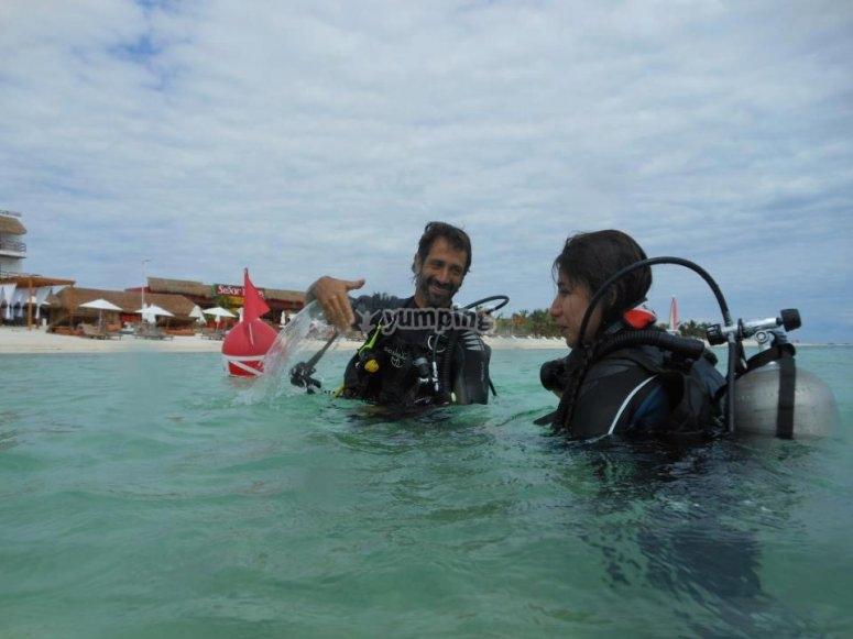Aprendiendo en el agua